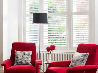 'Designed for living' - Whitehall Park Residential SWM Interiors & Sourcing Ltd SalonesSofás y sillones Algodón Rojo