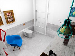 Thiago Zuza Design de interiores Ванная комната в стиле модерн Бирюзовый