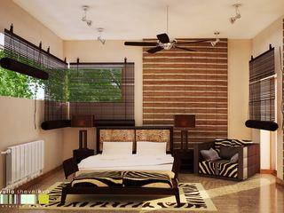 Мастерская интерьера Юлии Шевелевой Eclectic style bedroom