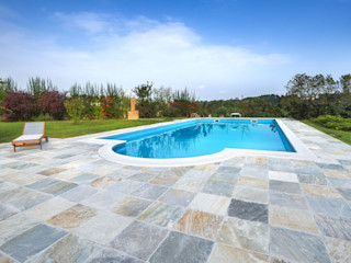 B&B Rivestimenti Naturali Mediterranean style pool Slate Grey