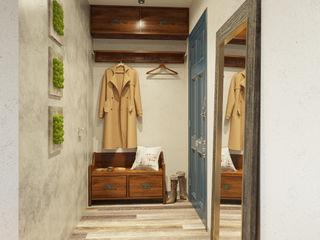 Преображение ДОМ СОЛНЦА Коридор, прихожая и лестница в стиле минимализм