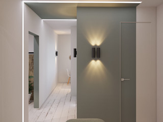 Интеграция в минимализм ДОМ СОЛНЦА Коридор, прихожая и лестница в стиле минимализм