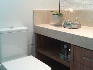 Atelier Plural Modern Bathroom Wood Multicolored