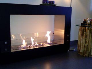 Clearfire - Lareiras Etanol غرفة المعيشةديكورات مدفأة الحطب حديد Black