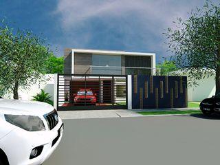 Arq Hernando Fuentes Diseños ミニマルな 家 コンクリート 白色
