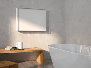 Light design complementi Marco Fumagalli SCIROCCO H BagnoTessuti & Accessori Ferro / Acciaio Bianco