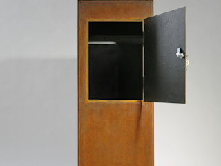 Briefkasten aus Stahl in rostigem Look Metall & Gestaltung Dipl. Designer (FH) Peter Schmitz Fenster & TürTürklinken und Zubehör