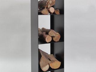 Regal für Kaminholz Metall & Gestaltung Dipl. Designer (FH) Peter Schmitz WohnzimmerRegale