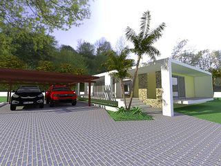 Arq Hernando Fuentes Diseños Дома в стиле минимализм Бетон Бежевый
