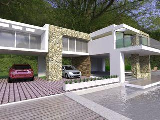 Arq Hernando Fuentes Diseños Дома в стиле минимализм Бетон Белый