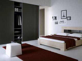 Komandor - Wnętrza z charakterem BedroomBeds & headboards Chipboard Black