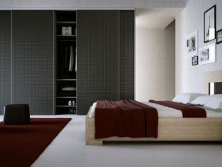 Komandor - Wnętrza z charakterem BedroomWardrobes & closets Glass Black