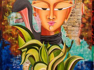 Indian Art Ideas ArteImagens e pinturas Fibra natural Multi colorido