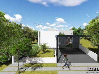 Taguá Arquitetura Maisons modernes Verre Blanc