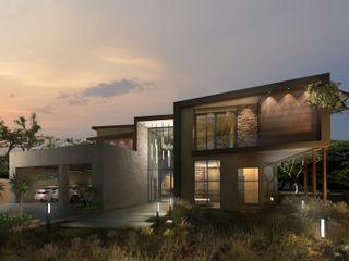 Koen and Associates Architecture 모던스타일 주택 유리 멀티 컬러