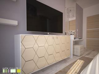 Мастерская интерьера Юлии Шевелевой Minimalist bedroom