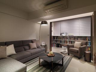 大集國際室內裝修設計工程有限公司 Nowoczesny salon