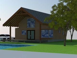 Arquitectura y Construcción Chinquel Rustic style houses Wood