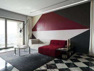 Sergio Mannino Studio Livings de estilo moderno Mármol Gris