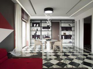 Sergio Mannino Studio Comedores de estilo moderno Mármol Blanco