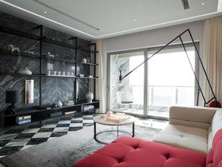 Sergio Mannino Studio Livings de estilo moderno Granito