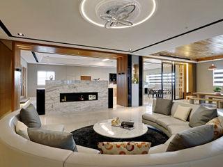 信美室內裝修 Salas de estilo moderno