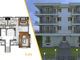 Miapera MİMARLIK Casas de estilo clásico Compuestos de madera y plástico Blanco
