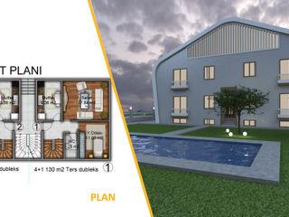 Miapera MİMARLIK Casas de estilo moderno Compuestos de madera y plástico Blanco