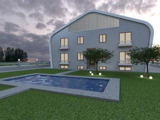 Miapera MİMARLIK Casas de estilo moderno Compuestos de madera y plástico Gris