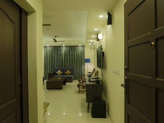 APARTMENT DESIGN5 Minimalist corridor, hallway & stairs
