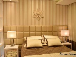 Quarto de Casal Contemporâneo DecaZa Design Modern style bedroom MDF Beige