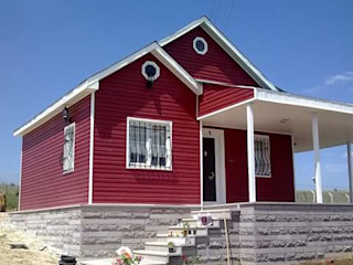 ersin usta prefabrik Rumah Modern Kayu Red