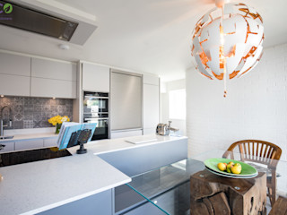 Handle Less design in Modern colours Eco German Kitchens Cucina moderna MDF Verde