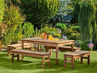 Set da giardino Tavolo + 4 Panche ONLYWOOD GiardinoMobili Legno massello