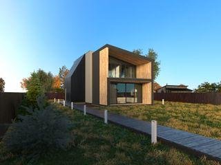 Grynevich Architects Minimalist house Wood Black