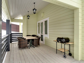 GOOD WOOD Skandinavischer Balkon, Veranda & Terrasse