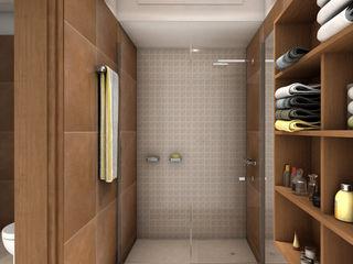 JIEarq Modern Bathroom Ceramic Brown