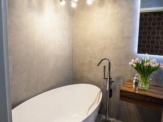 Pracownia projektowa Atelier Lillet Baños de estilo moderno Concreto Gris