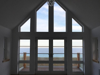 Plot 3, The Views, Gallaton, Aberdeenshire Roundhouse Architecture Ltd Modern style bedroom Glass