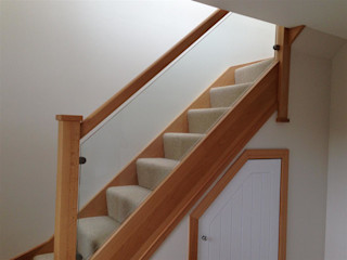 Riverside Drive, Stonehaven, Aberdeenshire Roundhouse Architecture Ltd Modern corridor, hallway & stairs