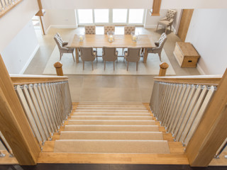 Coldwells, Alford, Aberdeenshire Roundhouse Architecture Ltd Modern dining room Wood
