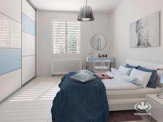 Komandor - Wnętrza z charakterem Dormitorios de estilo escandinavo Aglomerado Blanco