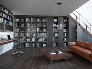 Komandor - Wnętrza z charakterem Living room Glass Black