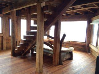 BLAC arquitectos Rustik Oturma Odası Ahşap Ahşap rengi