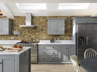 The SW12 Kitchen by deVOL deVOL Kitchens КухняШафи і полиці Дерево Сірий