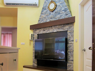 台中英式鄉村風度假宅 以恩室內裝修設計工程有限公司 客廳 Yellow