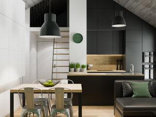PRØJEKTYW | Architektura Wnętrz & Design Industrial style dining room