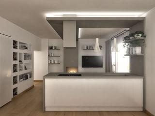 Architetto Luigia Pace Cozinhas modernas Madeira Bege