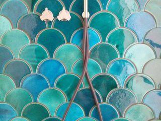 SCALE tile - ceramic tiles Viola Ceramics Studio BathroomDecoration Ceramic Turquoise