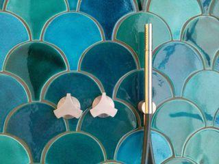 SCALE tile - ceramic tiles Viola Ceramics Studio Corridor, hallway & stairsAccessories & decoration Ceramic Turquoise